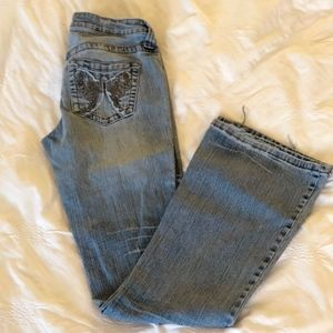Denim - Jeans, Size 3 with butterfly beading on pocket